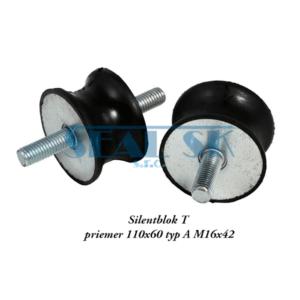 Silentblok T priemer 110x60 typ A M16x42