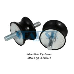 Silentblok T priemer 20x15 typ A M6x18