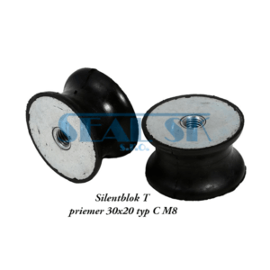 Silentblok T priemer 30x20 typ C M8