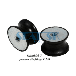 Silentblok T priemer 40x30 typ C M8