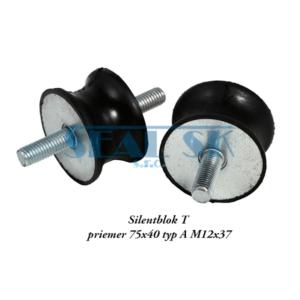Silentblok T priemer 75x40 typ A M12x37