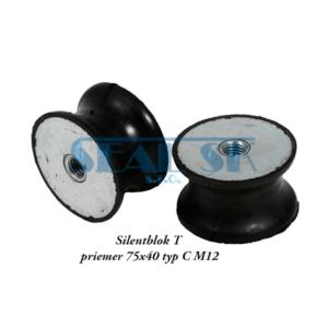 Silentblok T priemer 75x40 typ C M12