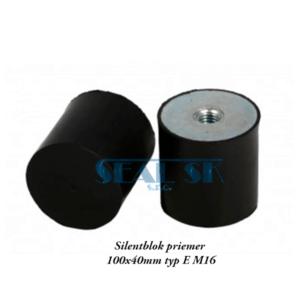 Silentblok priemer 100x40mm typ E M16