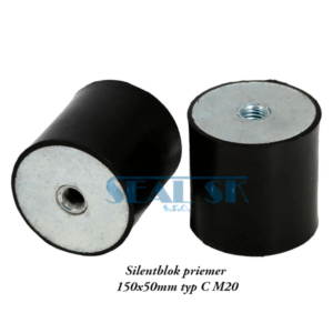 Silentblok priemer 150x50mm typ C M20