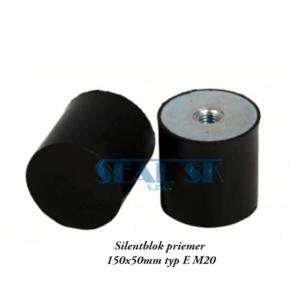Silentblok priemer 150x50mm typ E M20