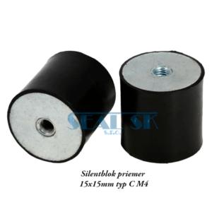Silentblok priemer 15x15mm typ C M4