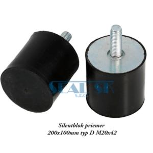 Silentblok priemer 200x100mm typ D M20x42