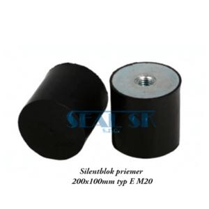 Silentblok priemer 200x100mm typ E M20