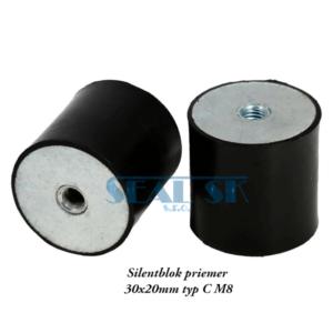 Silentblok priemer 30x20mm typ C M8
