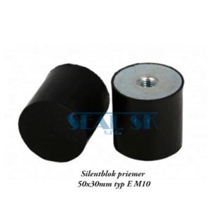Silentblok priemer 50x30mm typ E M10