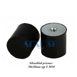 Silentblok priemer 50x50mm typ E M10