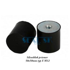 Silentblok priemer 50x50mm typ E M12