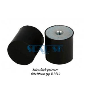 Silentblok priemer 60x40mm typ E M10
