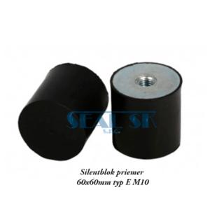 Silentblok priemer 60x60mm typ E M10