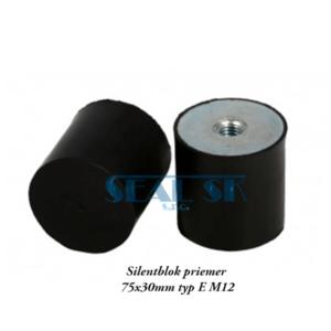 Silentblok priemer 75x30mm typ E M12