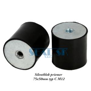 Silentblok priemer 75x50mm typ C M12