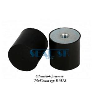 Silentblok priemer 75x50mm typ E M12
