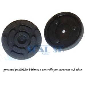 gumová podložka 140mm s centrálnym otvorom a 3 tŕne
