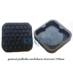 gumová podložka navliekacia štvorcová 118mm