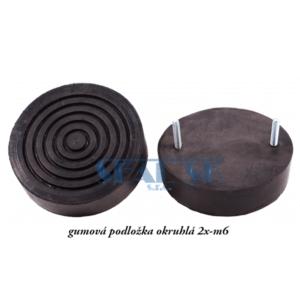 gumová podložka okruhlá 2x-m6