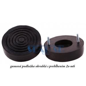 gumová podložka okruhlá s prehĺbením 2x-m6